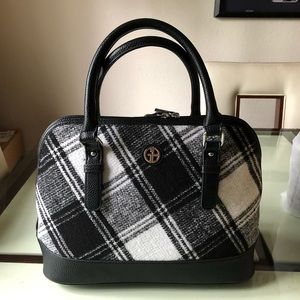 GIANI BERNINI Woven plaid Satchel